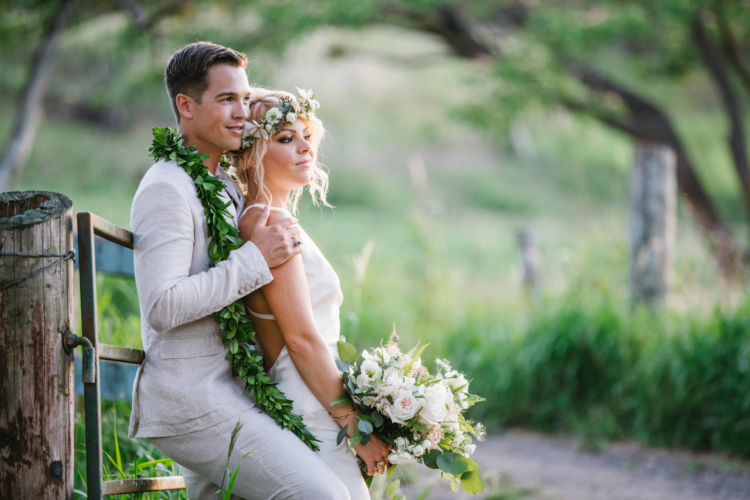 Lovely Wedding Couple At Dillingham ranch