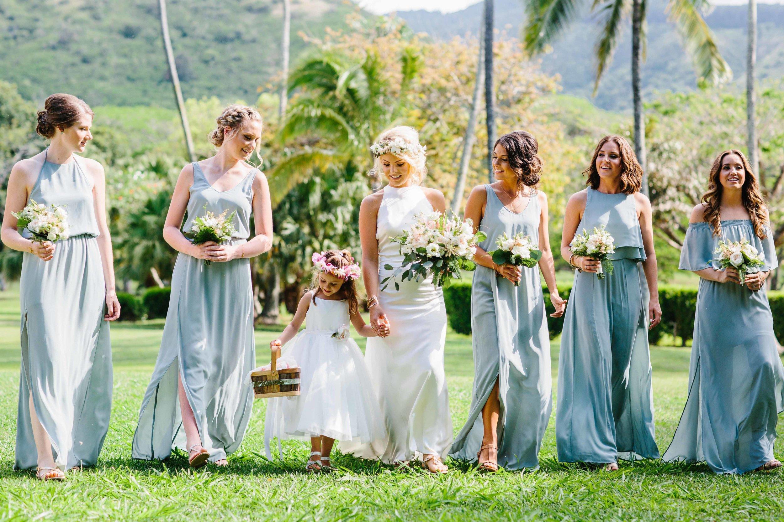 Bridesmaids Stick Together Hawaii photography.