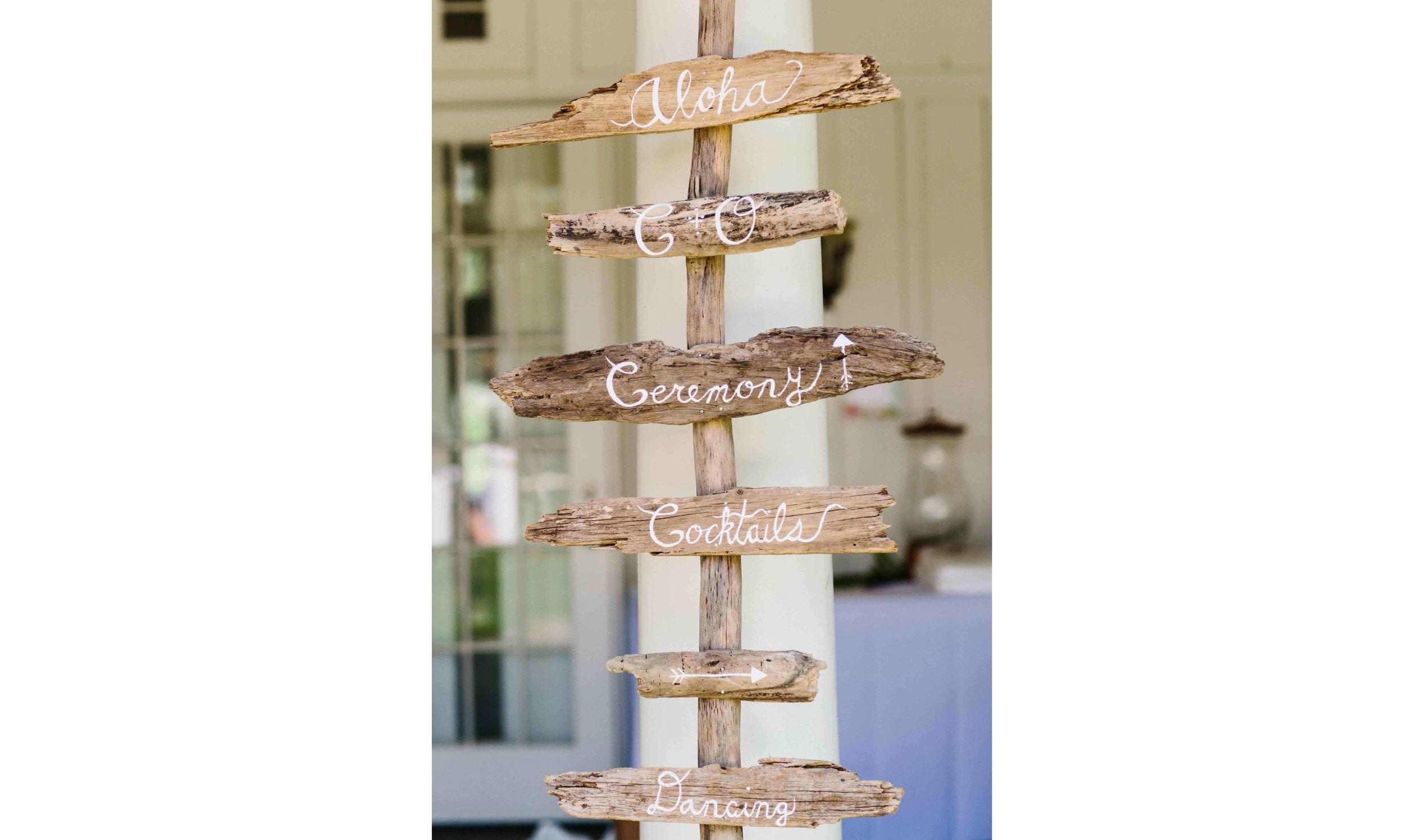 Wood Stationary Wedding Decor