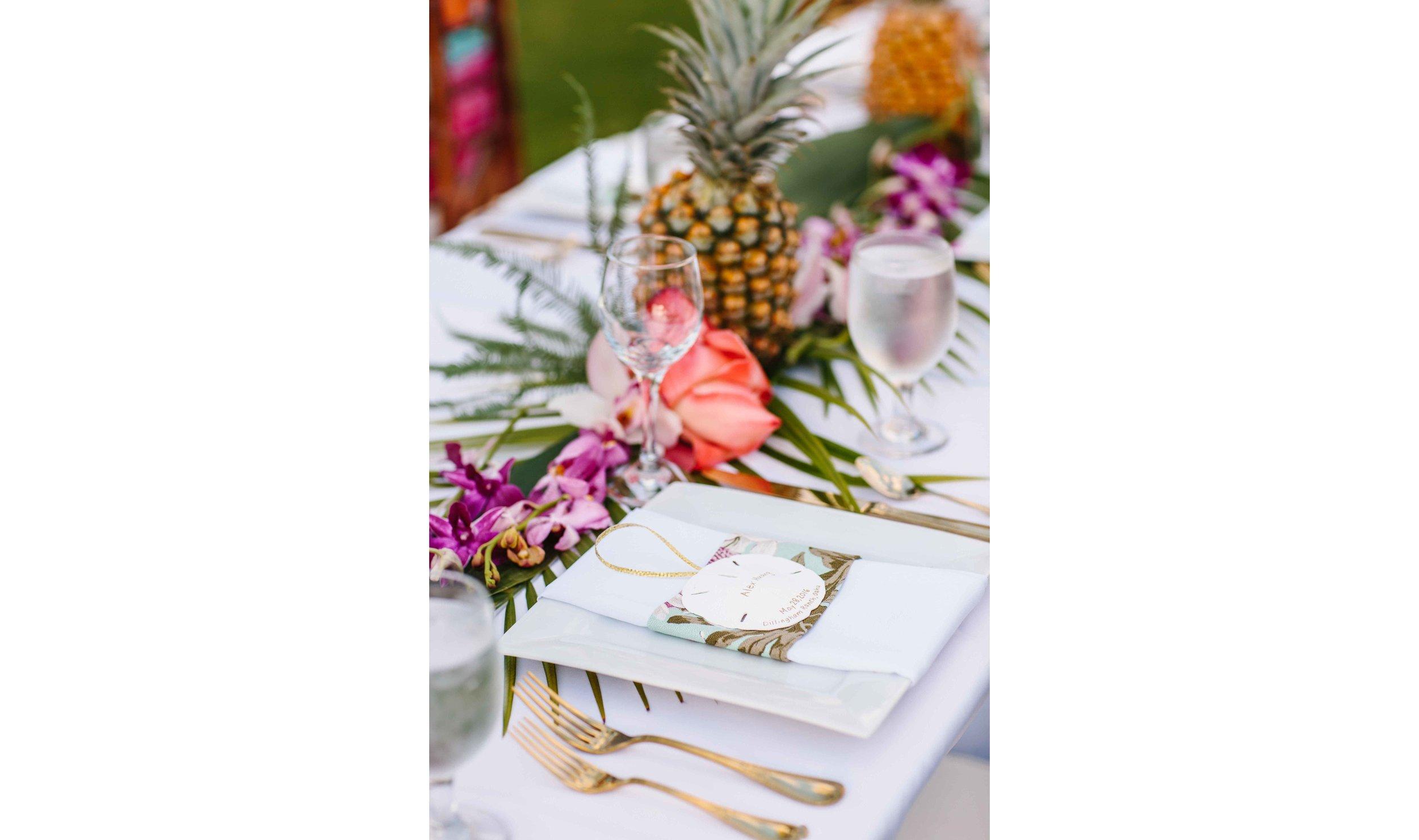 Tropical Hawaiian Dinner Reception