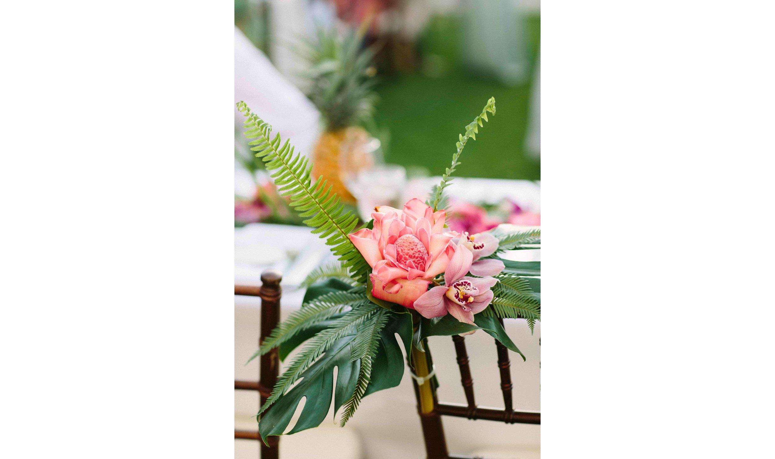 Tropical Flower Reception Decorations