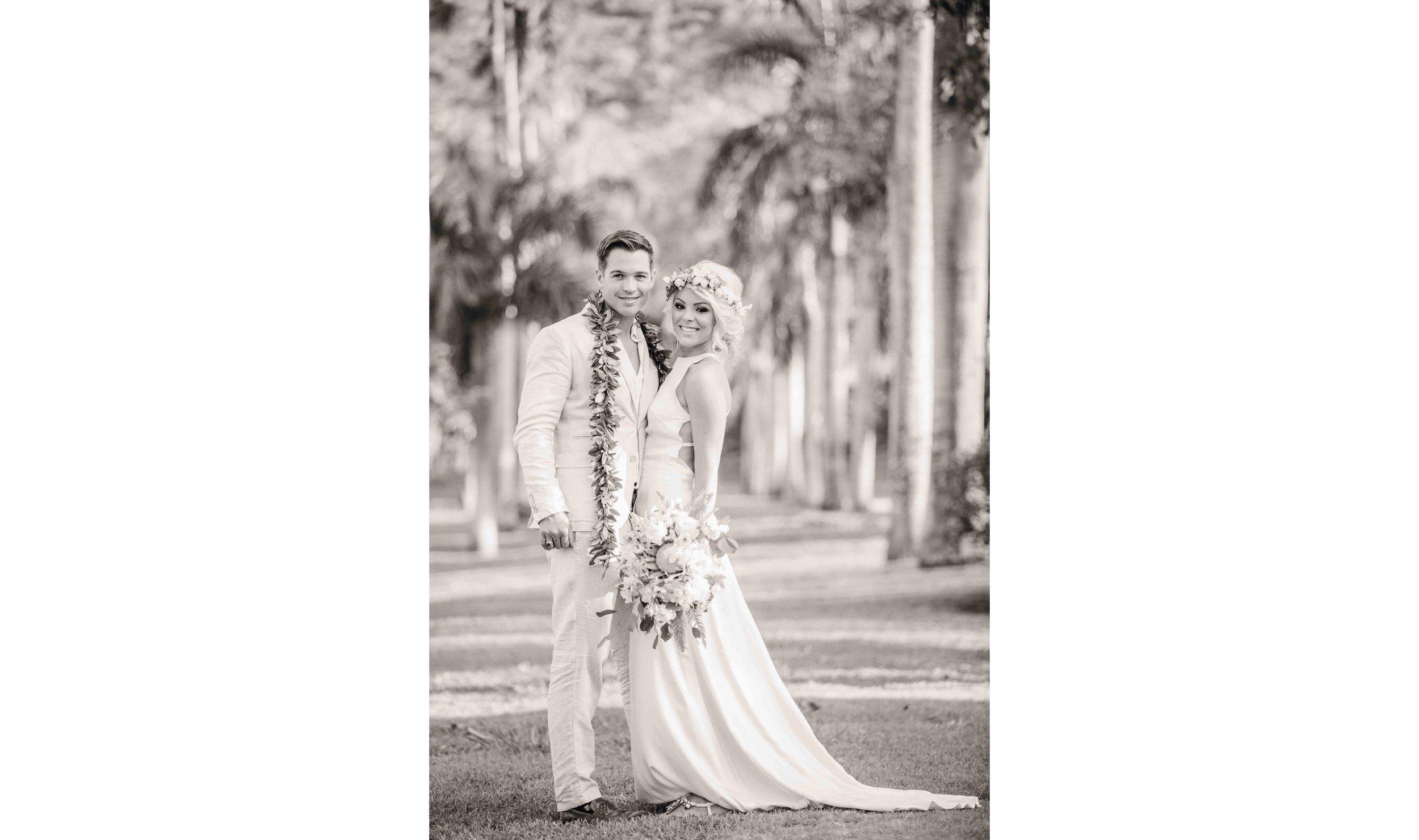Black & White Newly Weds