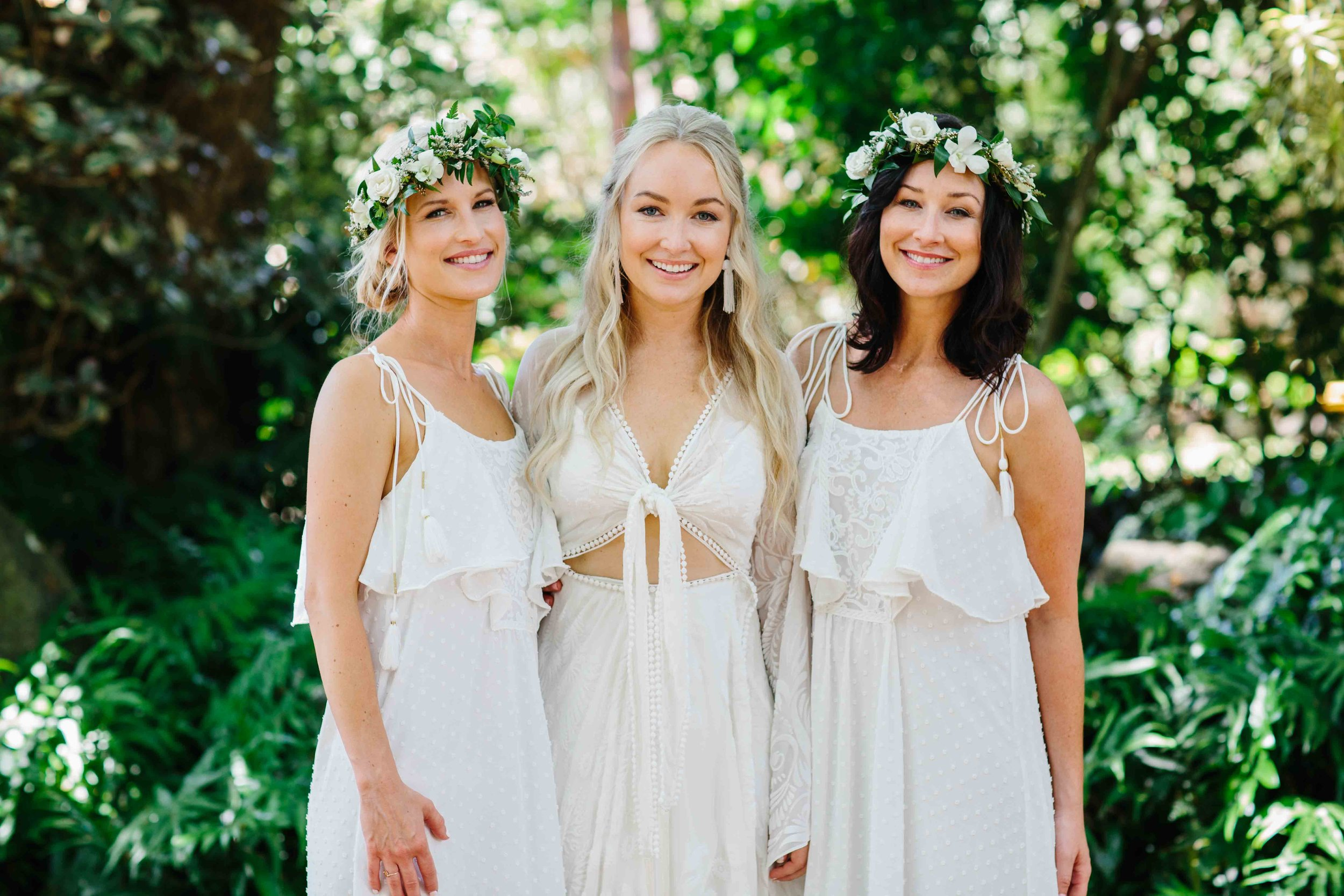 Boho Bride with her Maids of Honor