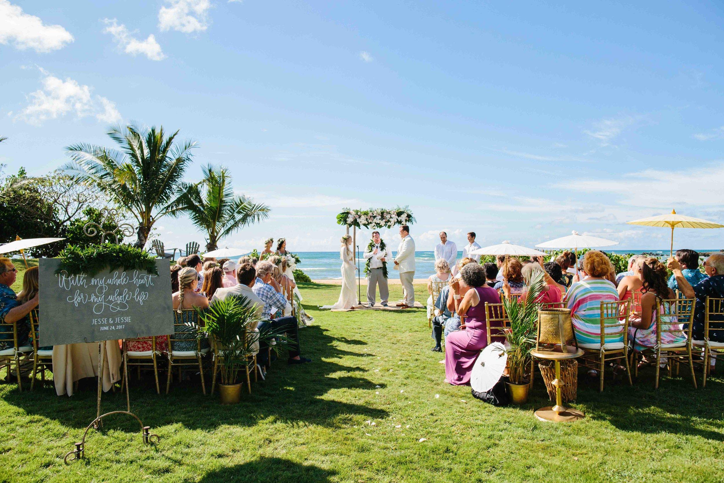 Hawaii Wedding Photography at Loulu Palm Farm Estate