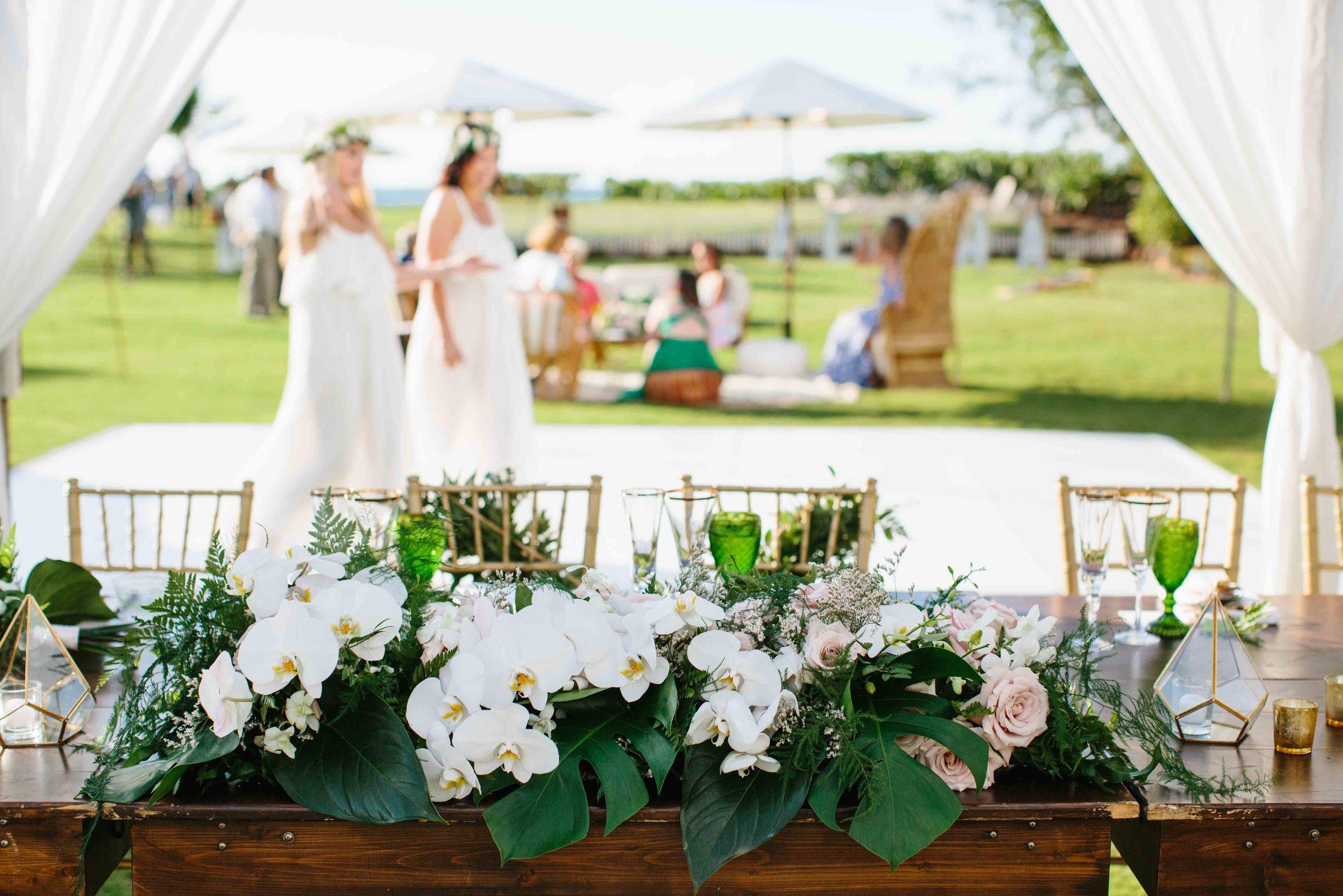 Tropical Boho Wedding Reception
