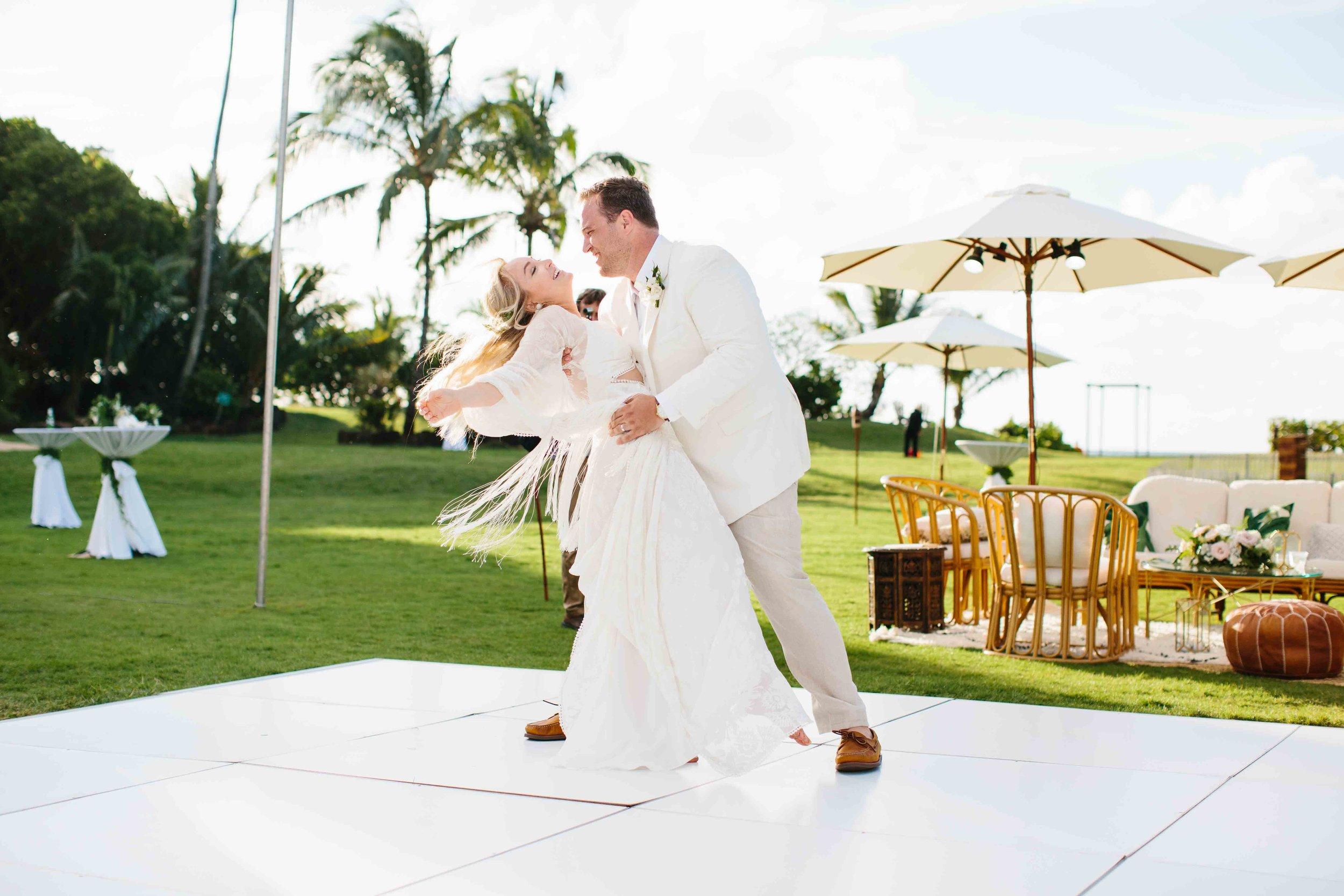 Hawaii Wedding Photography of a Outdoor Wedding