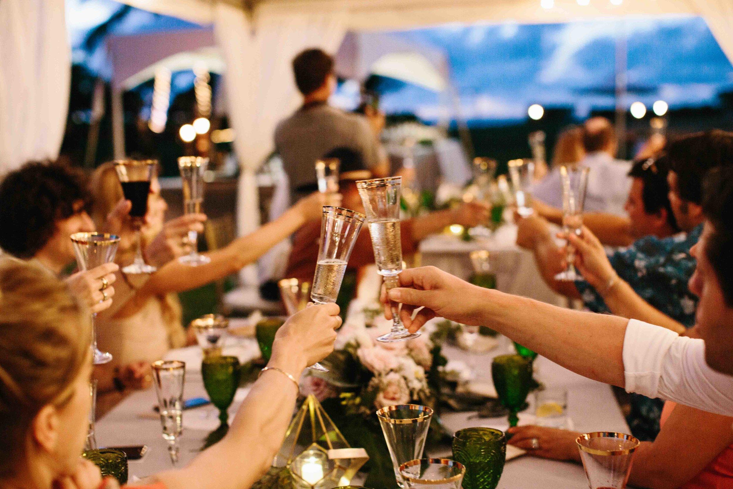 Wedding Photography of Reception Toast