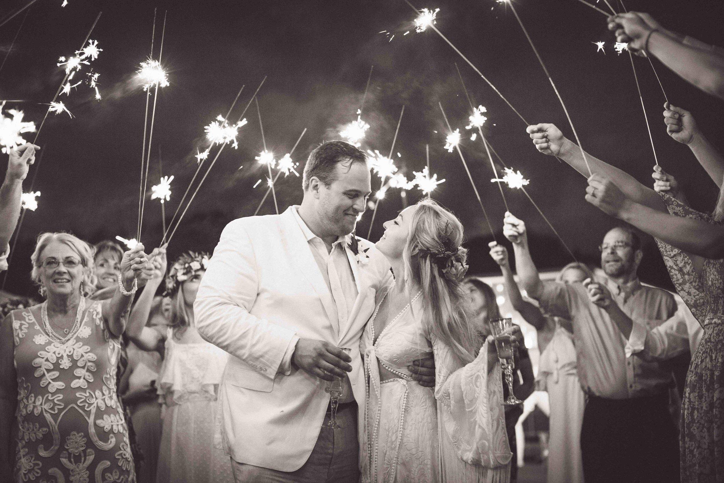 Artistic Sparkler Wedding Photography