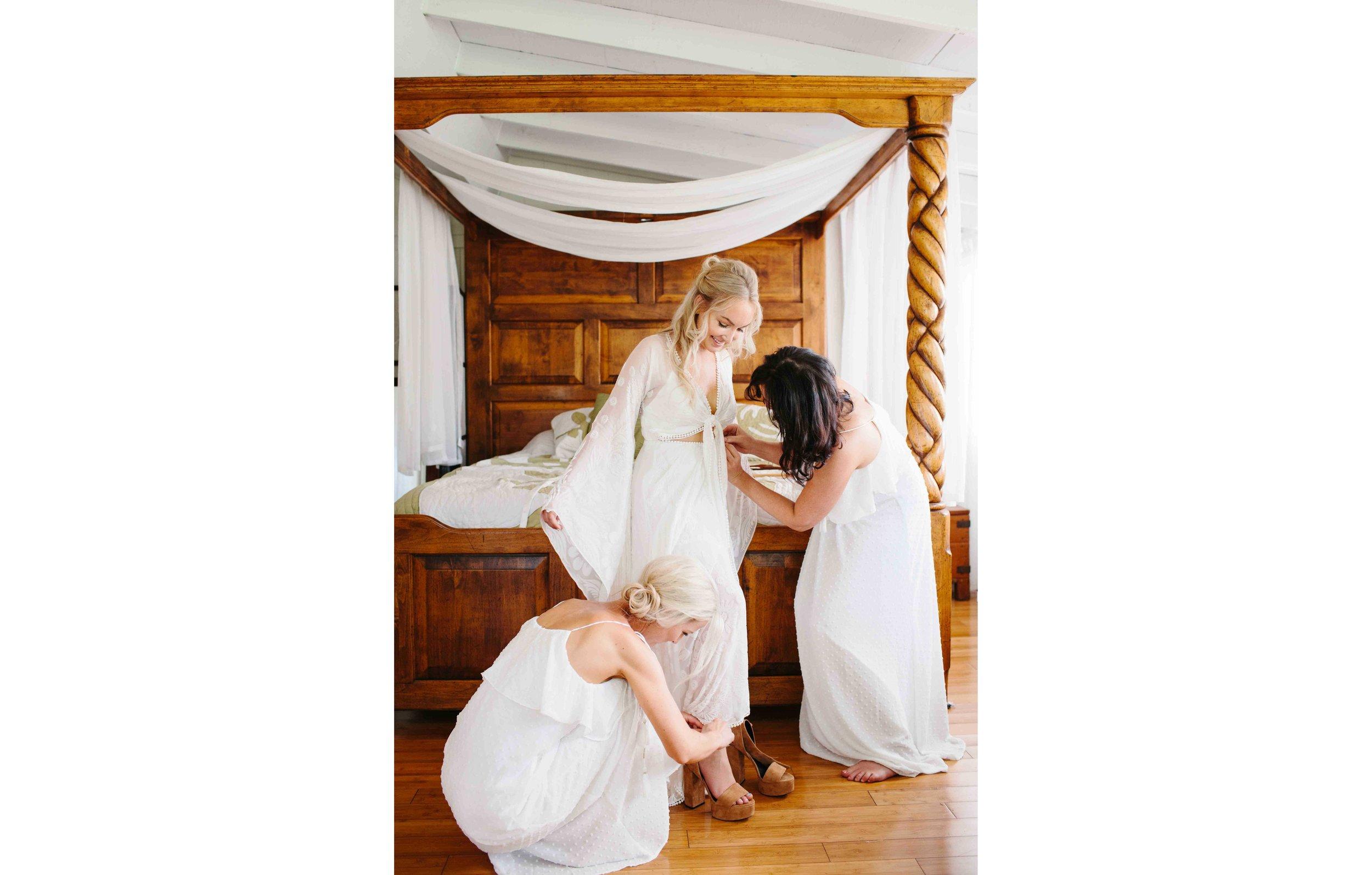 Oahu Wedding Photography of a Bride Getting Ready