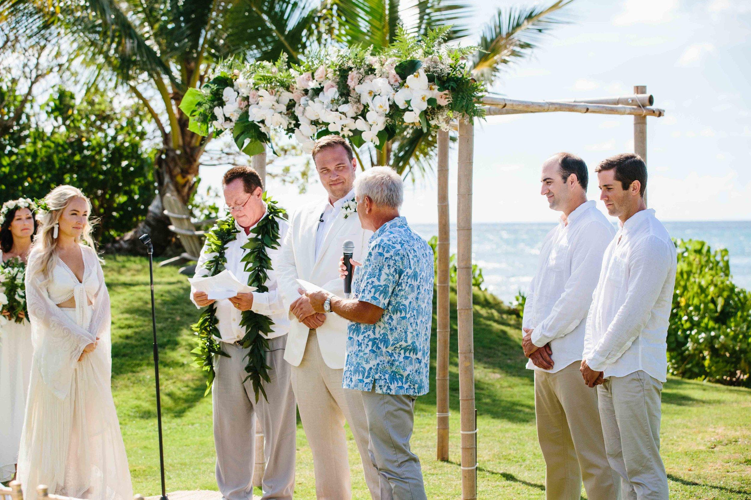 Oahu Wedding Ceremony in Haleiwa, Hawaii