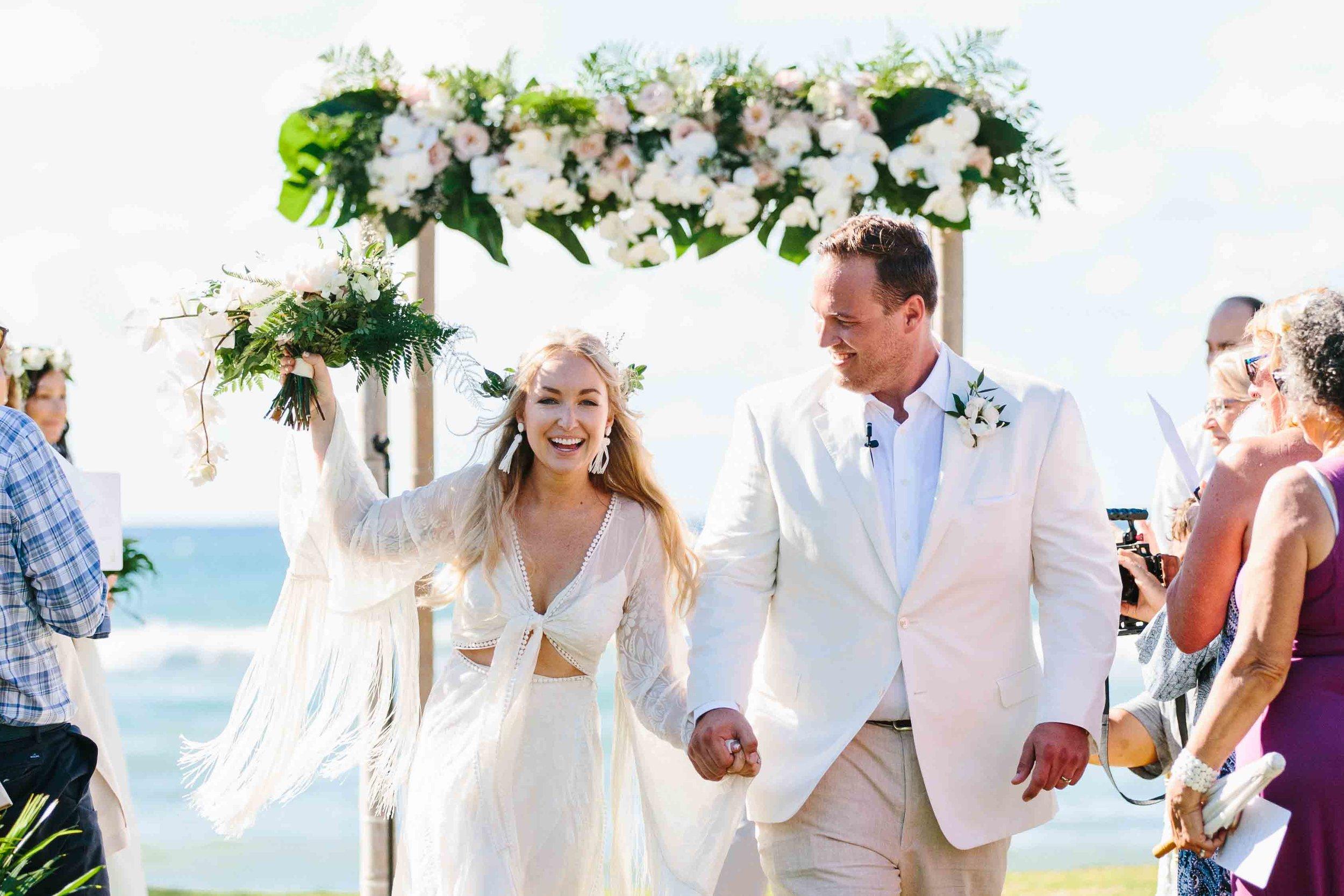 Bride & Groom Exiting Wedding Ceremony
