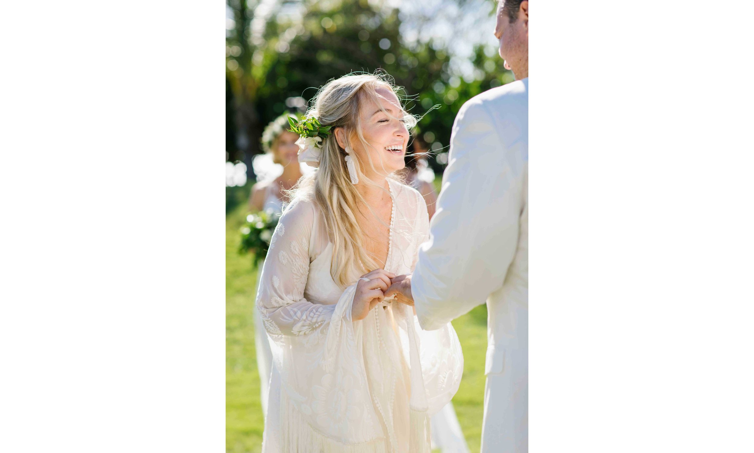 Candid Wedding Photography of a Bride Laughing