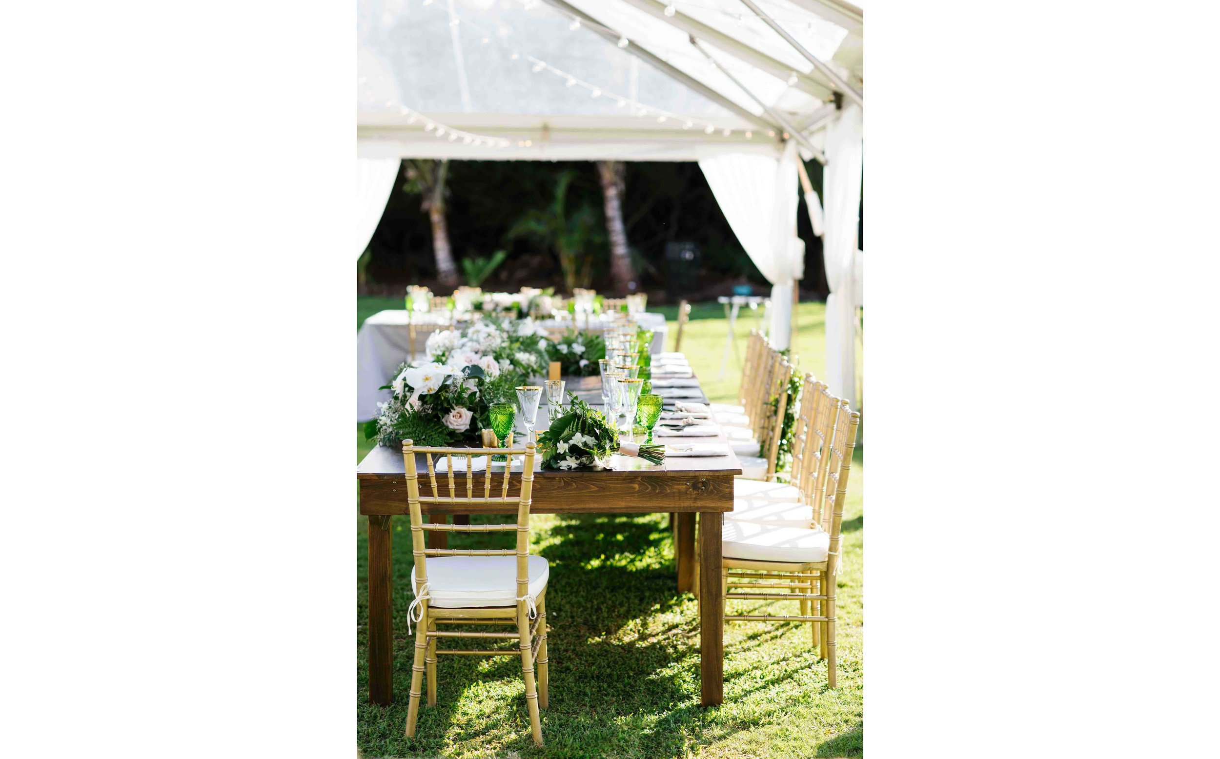 Tropical Bohemian Wedding Reception