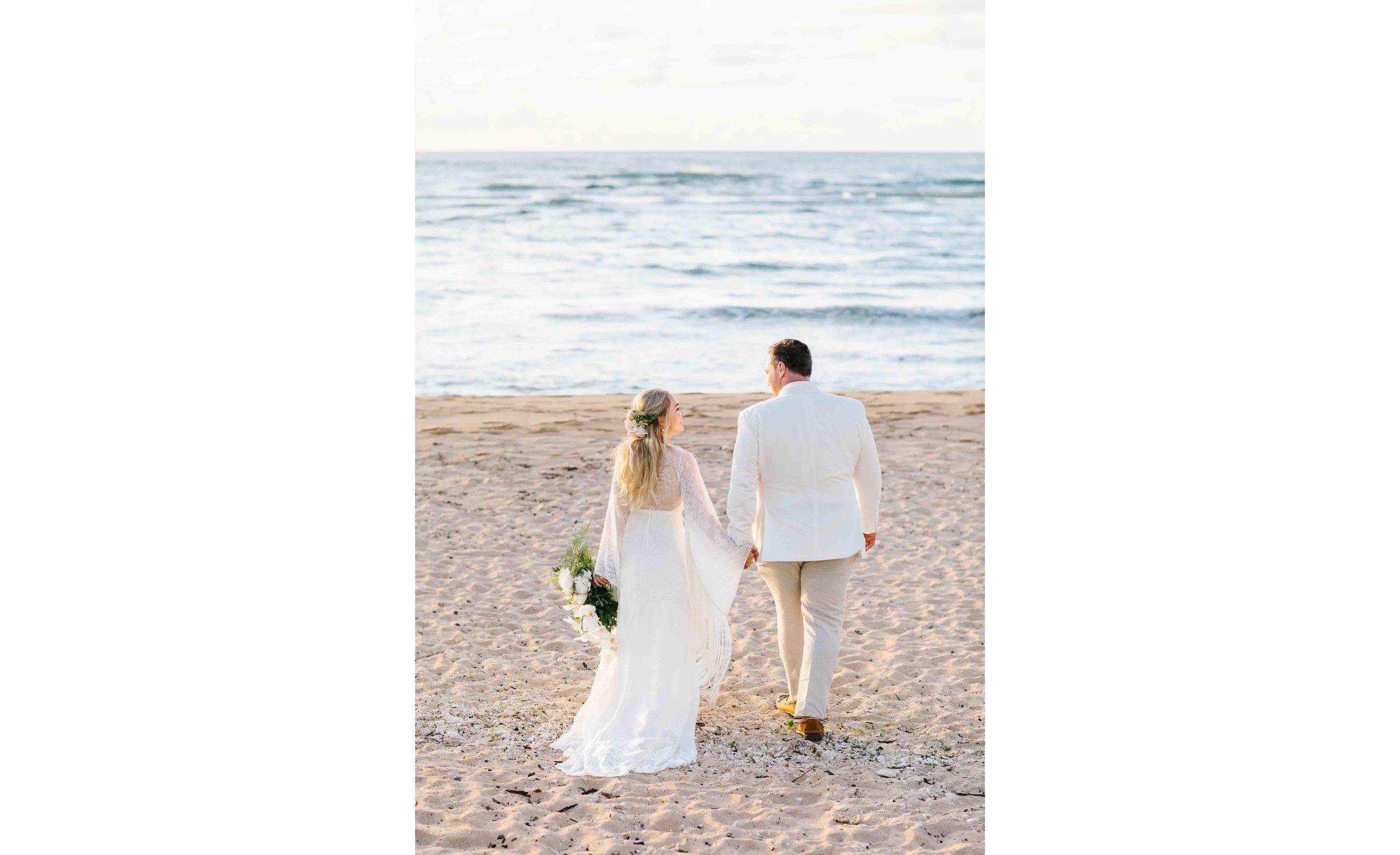 Hawaii Beach Wedding Photography at Loulu Palm