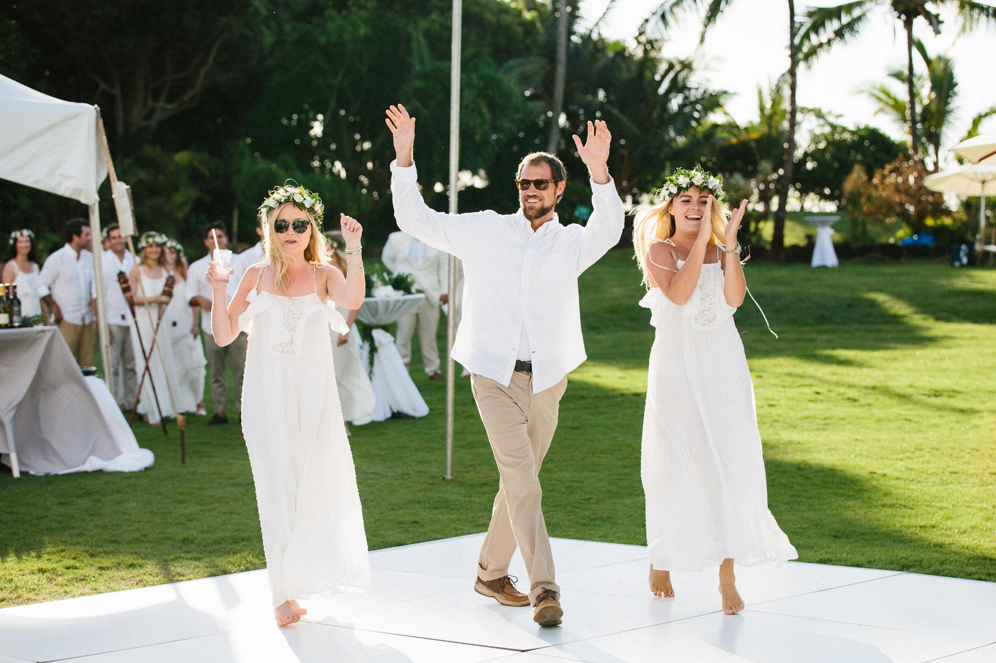 Bridal Party Reception Entrance at Loulu Palm Farm Estate