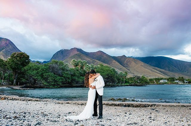 """Finding the right photographer for our destination wedding in Hawaii was a more challenging task than we initially thought. It's because we were looking for something more than just beautiful photos.  We wanted beautiful photos that also captured a feeling.  Our decision to book Absolutely Loved then became the easiest decision we made the moment we found them. We instantly knew they were the photographers for us!  And after booking them, everything fell into place with so much ease. Stefanie and Anna were very communicative, detail oriented, and on the day of, professional and yet, so easy to be around.  They made us feel relaxed, in our element, and brought out the best not only in ourselves but in the details of everything we had spent so much time planning!  With our wedding photos, not only will we reminisce over every detail, we can forever relive the feeling of every moment.  And for that, we are forever grateful!! Thank you so so much, Stefanie and Anna, for capturing our wedding day with so much life, beauty, and artistry!!!"" Thank you so much @brendanchute & @pardianimal for your kind words! We absolutely loved working with you both! We are grateful to have clients like you. 💗"