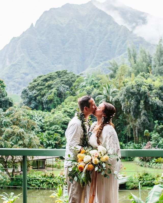 """Where to even start! Absolutely Loved Photography was more than we even imagined. They captured our day so perfectly, they took our vision of our big day and brought it to life. Thank you again for capturing our special day, we will have these beautiful memories forever!"" Mahalo @britters31 & @sstrathmann88 for the review! It was so much fun working with you! Best wishes always! 🌺"