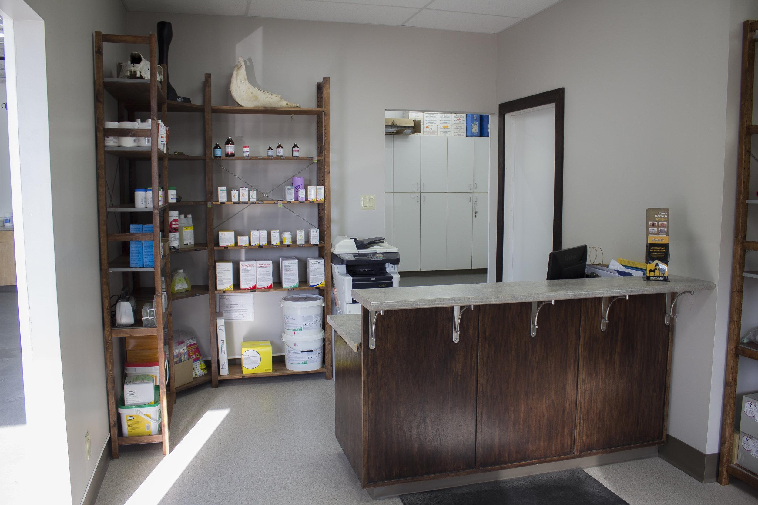 Large Animal Reception & Pharmacy