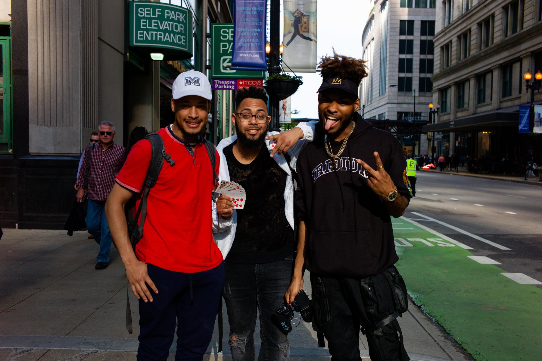 Ran into the famous magician Jibrizy! (far right)