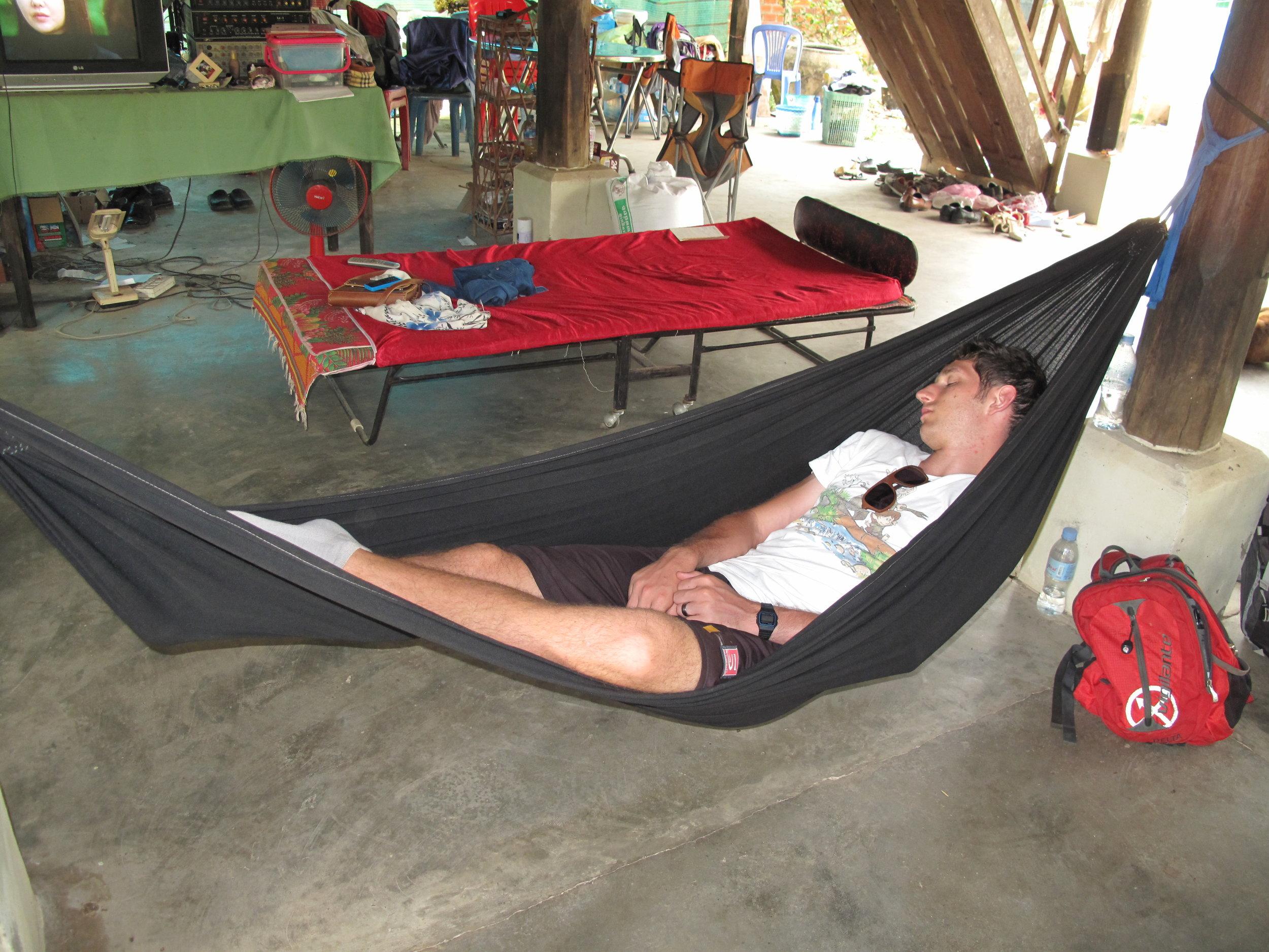 Post-lunch nap, Battambang