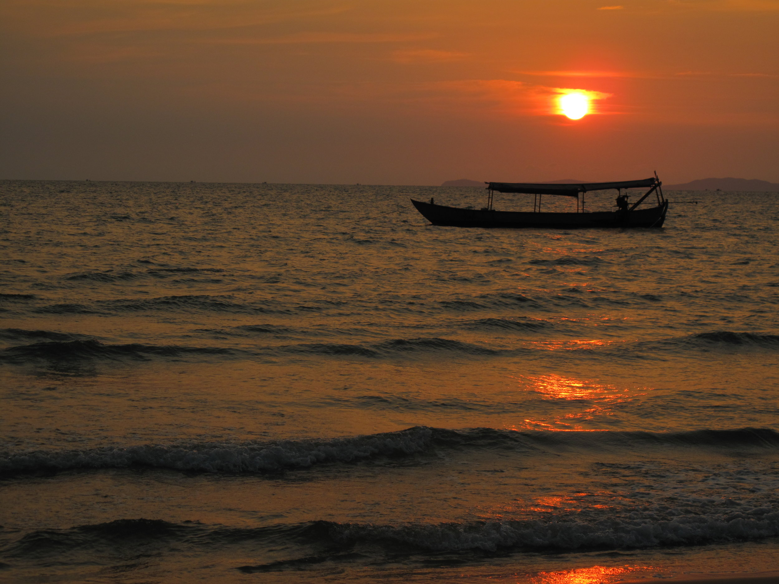 Our first sunset, Sihanoukville