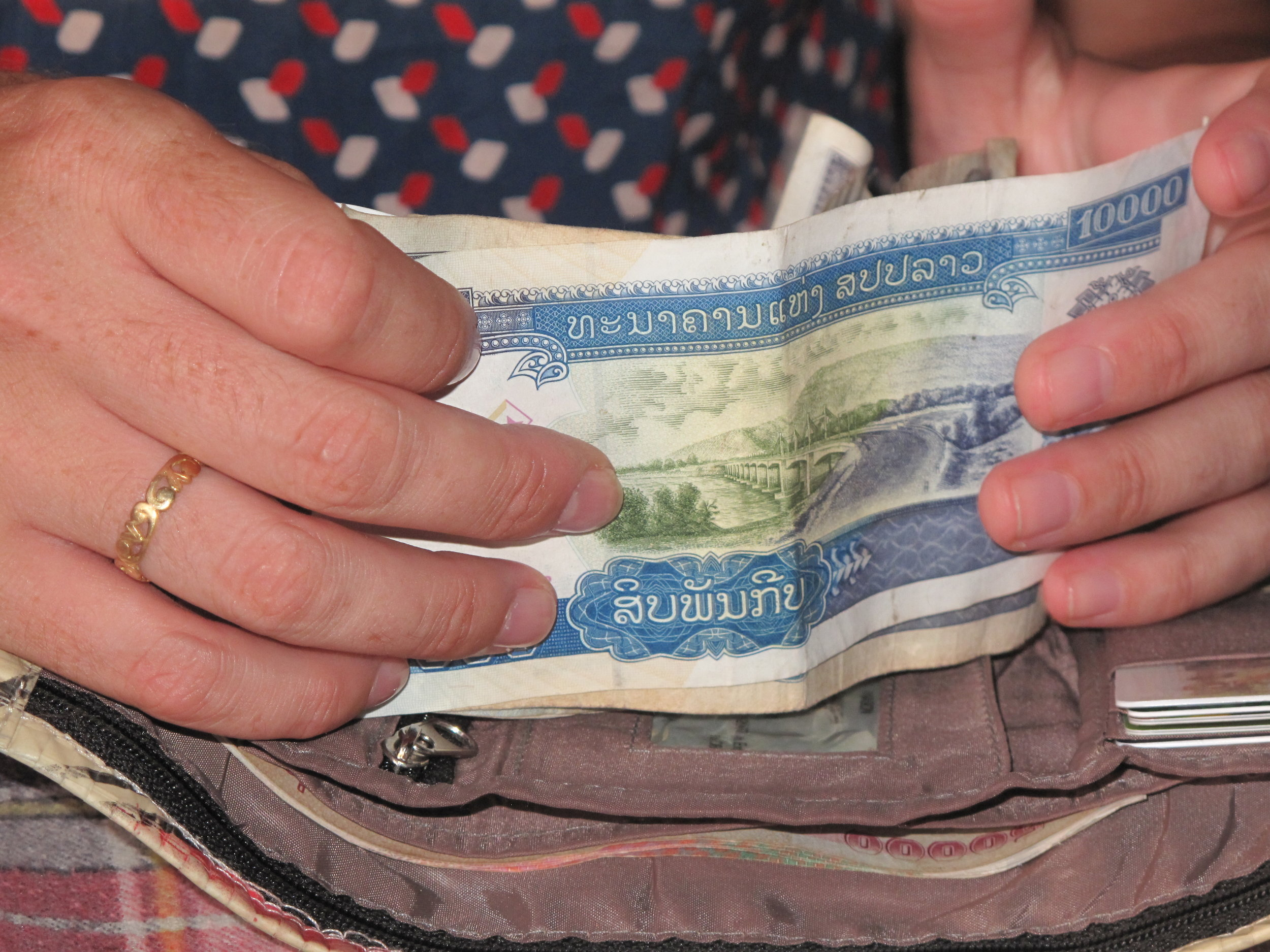 Money, Luang Prabang, Laos
