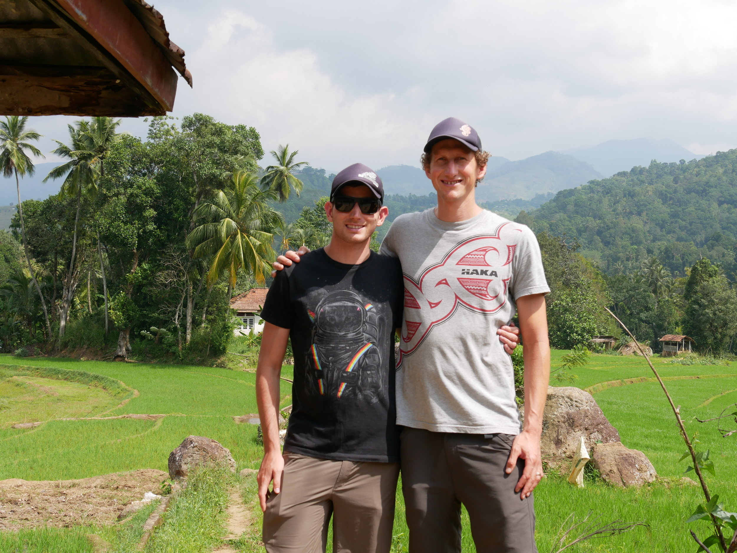 Zev and Josh on an eco-tour