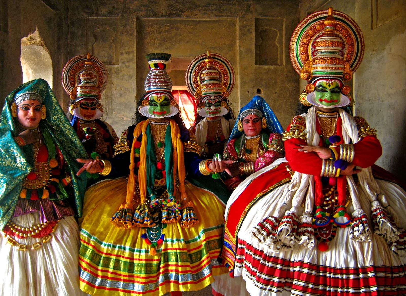 Kathikali costumes