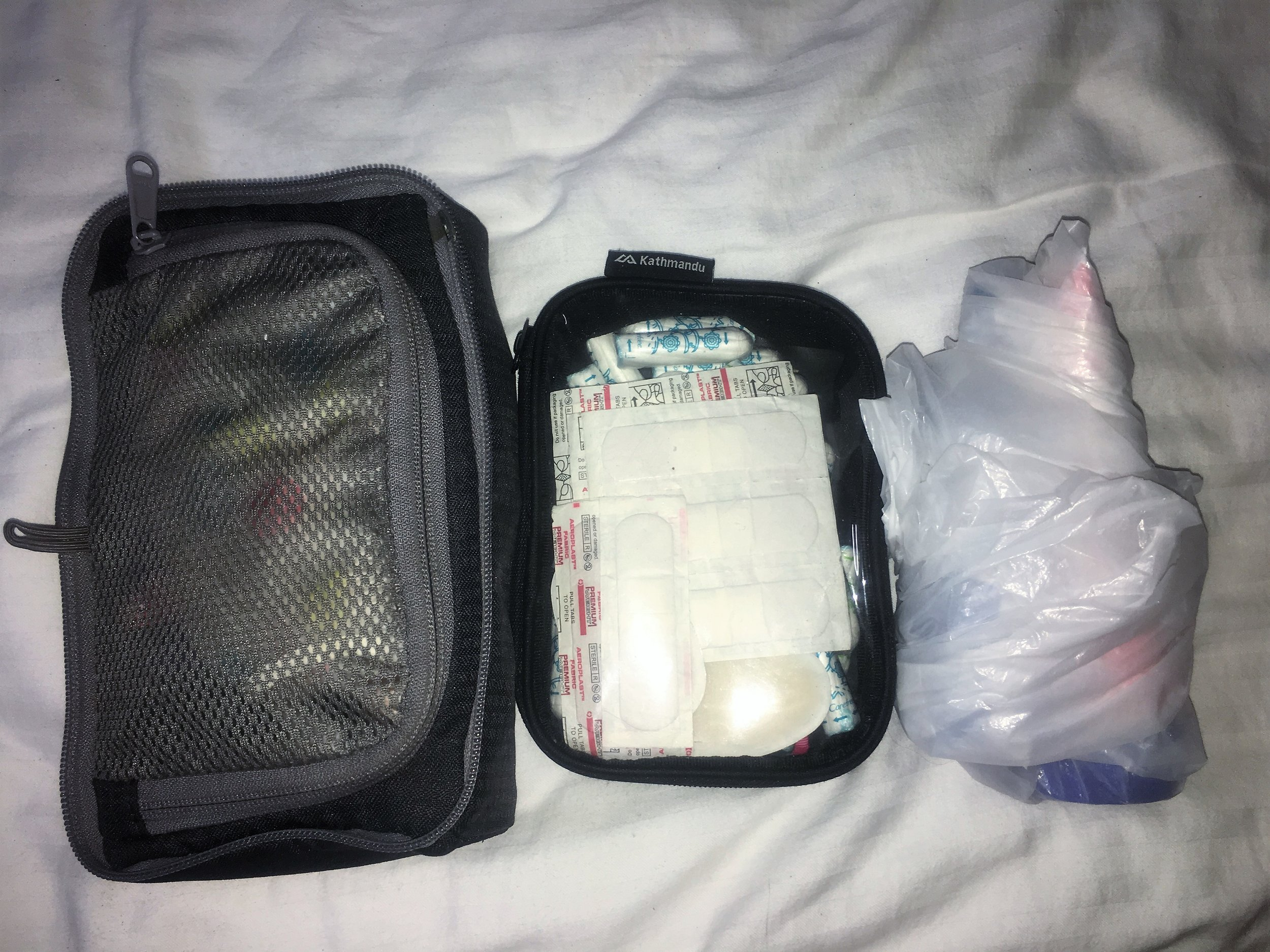 Toiletries all packed