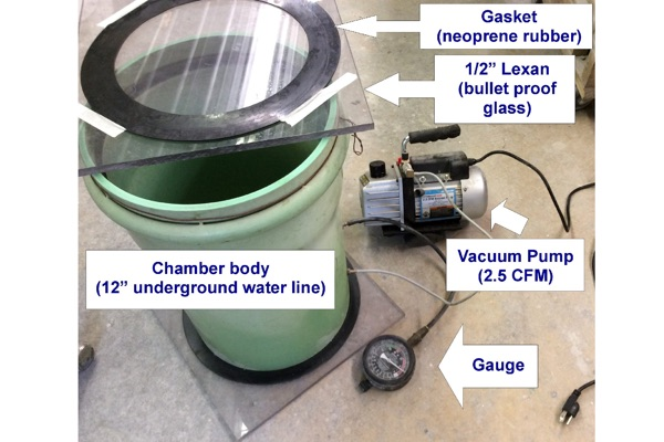 Vacuum Chamber for Degassing Rubber