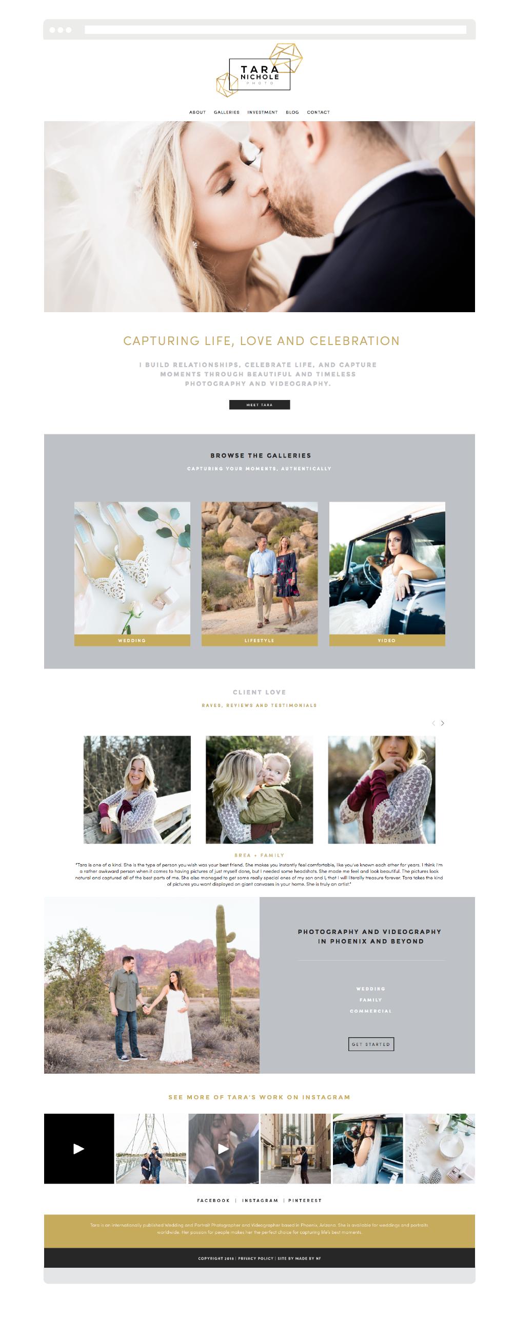 Custom Squarespace Design for Wedding Photographer - Wedding Photographer Squarespace Website.png