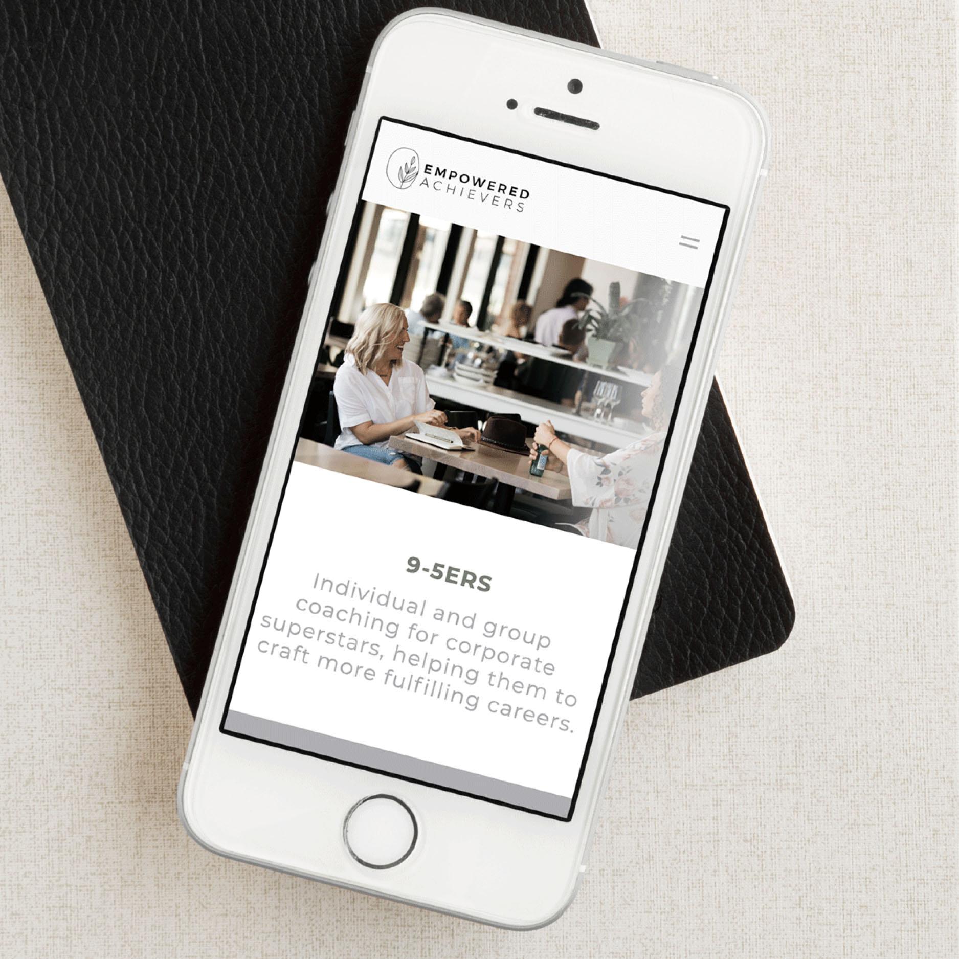 EMPOWERED ACHIEVERS  | Website Design