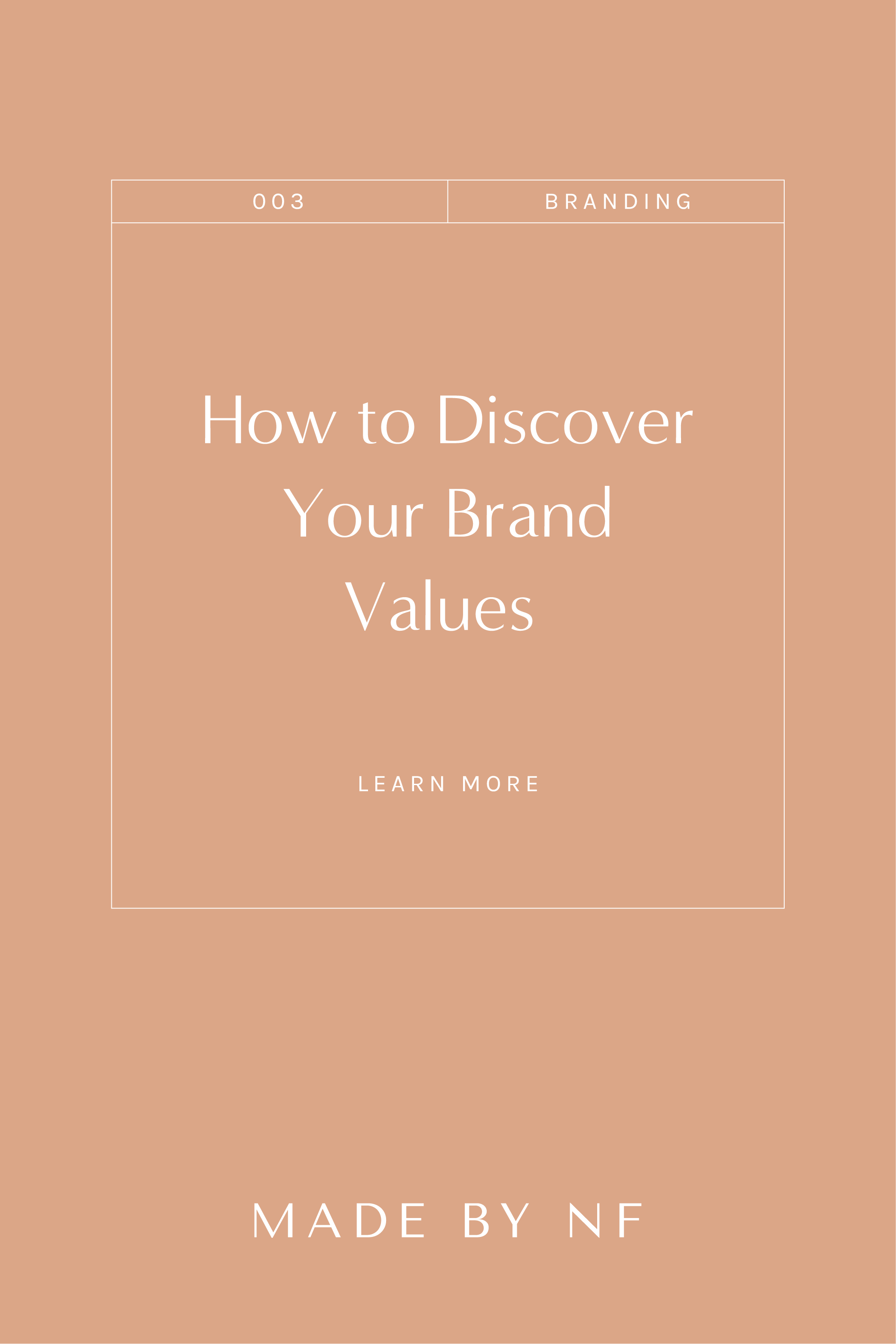 How to Create your brand values for small businesses - Crafting your brand values - made by nf