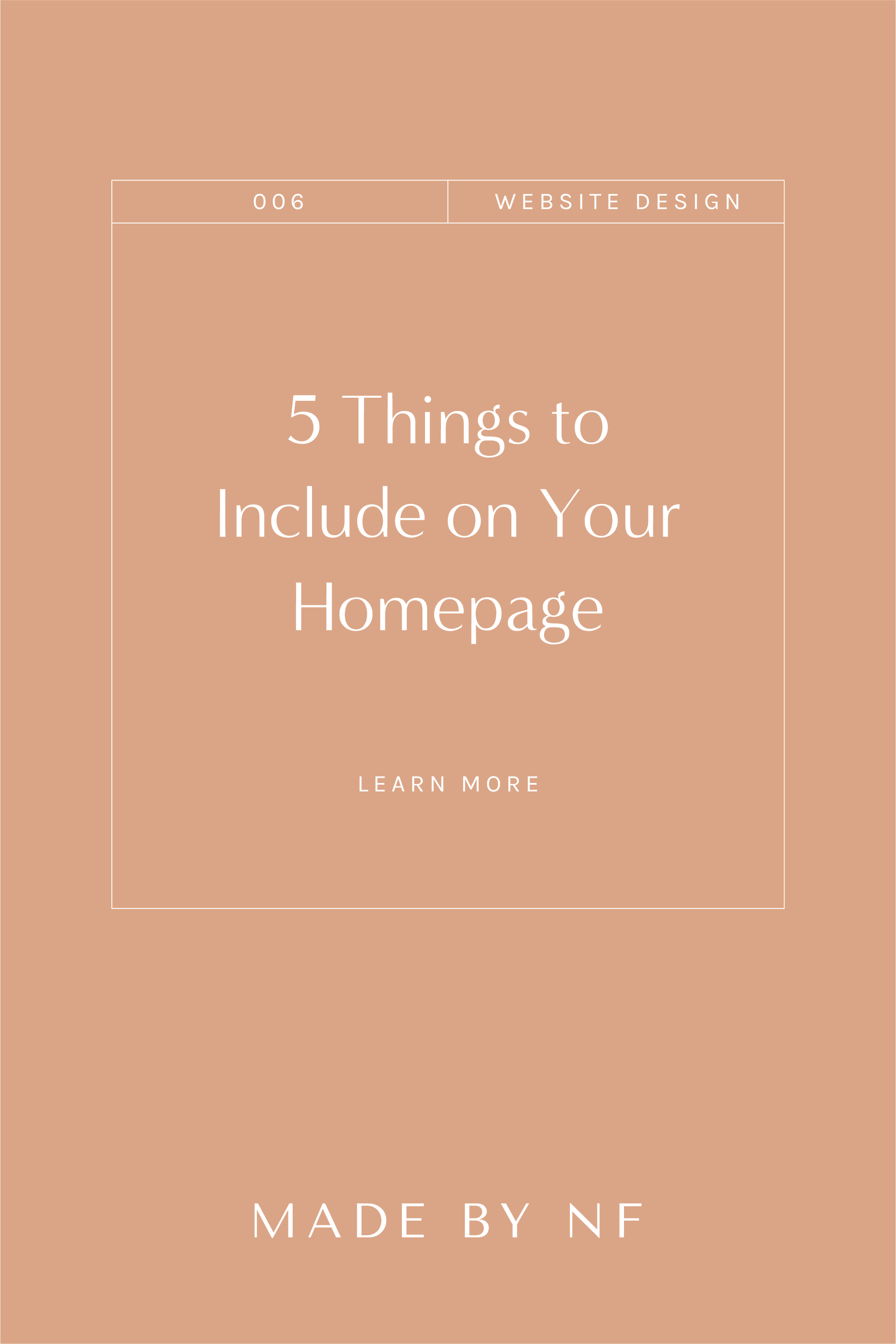 5 things to include on your homepage - squarespace website design for service based businesses