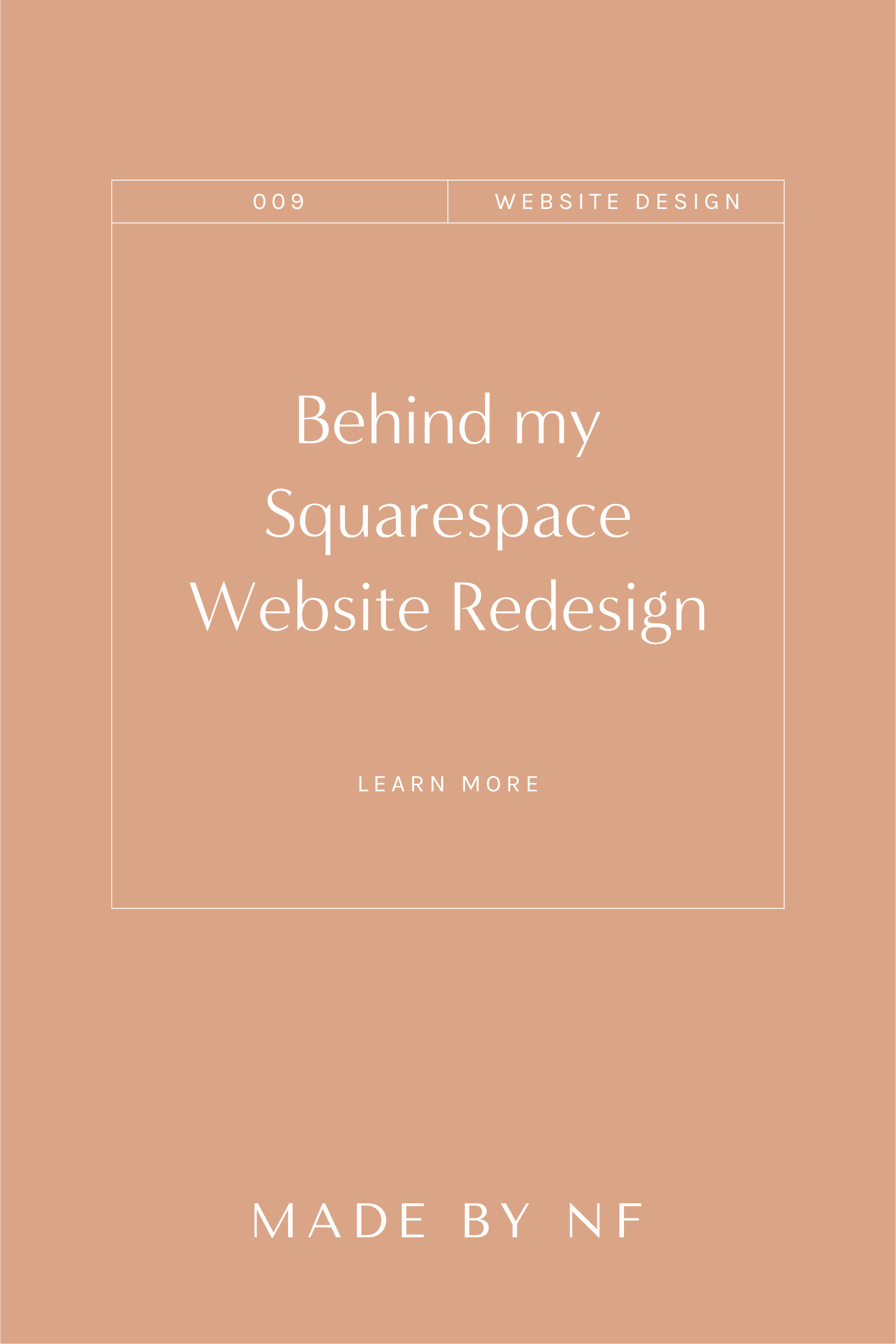 Are you ready for a Squarespace website redesign - Website Designer for Creatives - Made by NF