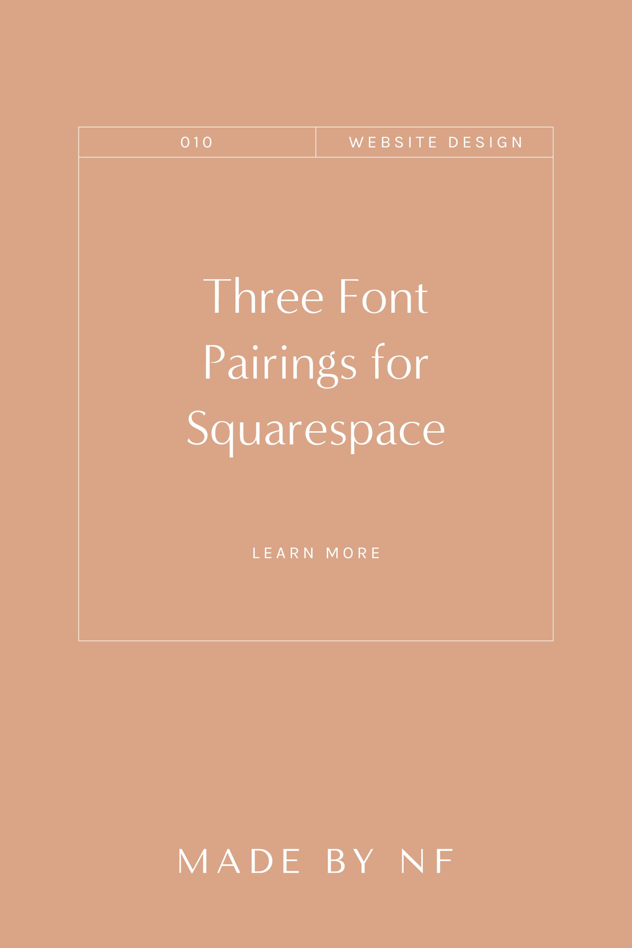 The Best Font Pairing Combos for Squarespace - Squarespace Font Combo Ideas