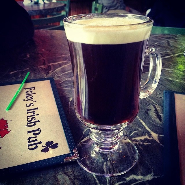 An Irish coffee to get you going? Photo by @alltheveg