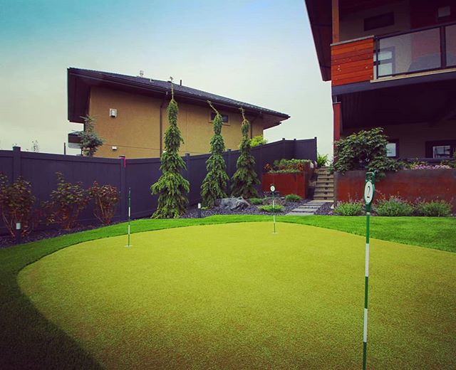 Landscaping Season is upon us. Which means so is Golf Season. Time to brush up.  #yeglandscaping #jadelandscaping #yegcustom #yegphotography #yeglocal #yegbuilder #yegsteel #cortensteel #golfgreen #artificialturf #gardenbeds #softscaping #hardscaping #windermere #yeggolf #landscapedesign #landscapelighting #inlite #landscapearchitecture
