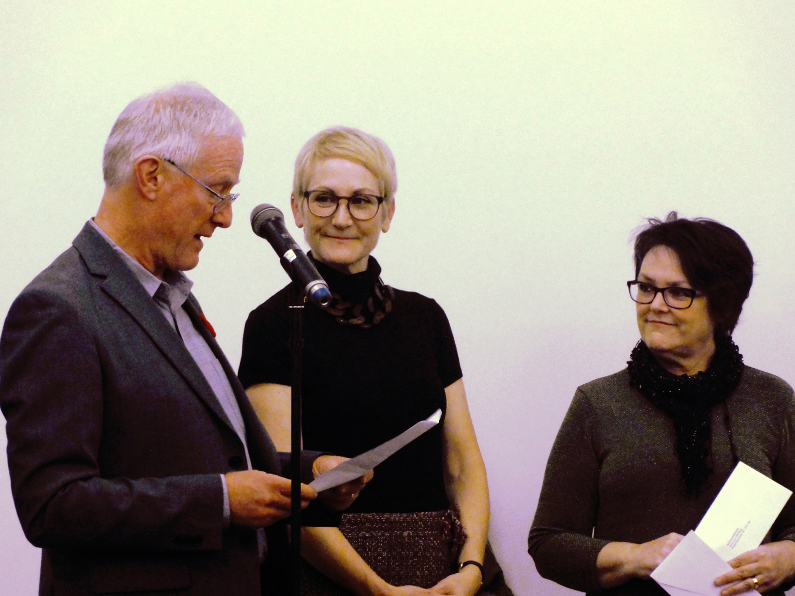 Don S. Williams Grant recipient Maria Josenhans  ( Visual Artist) Presenter: District of North Vancouver Mayor Richard Walton.