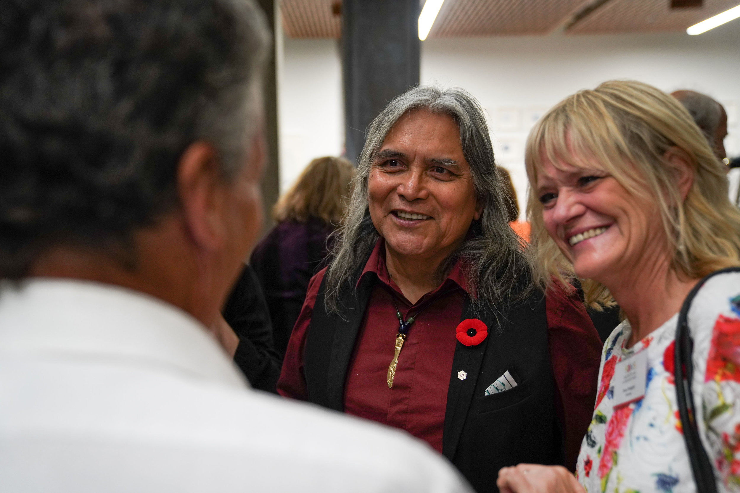 Past FANS Distinguished Artist Xwalacktun and FANS Board member Anne Rodgers
