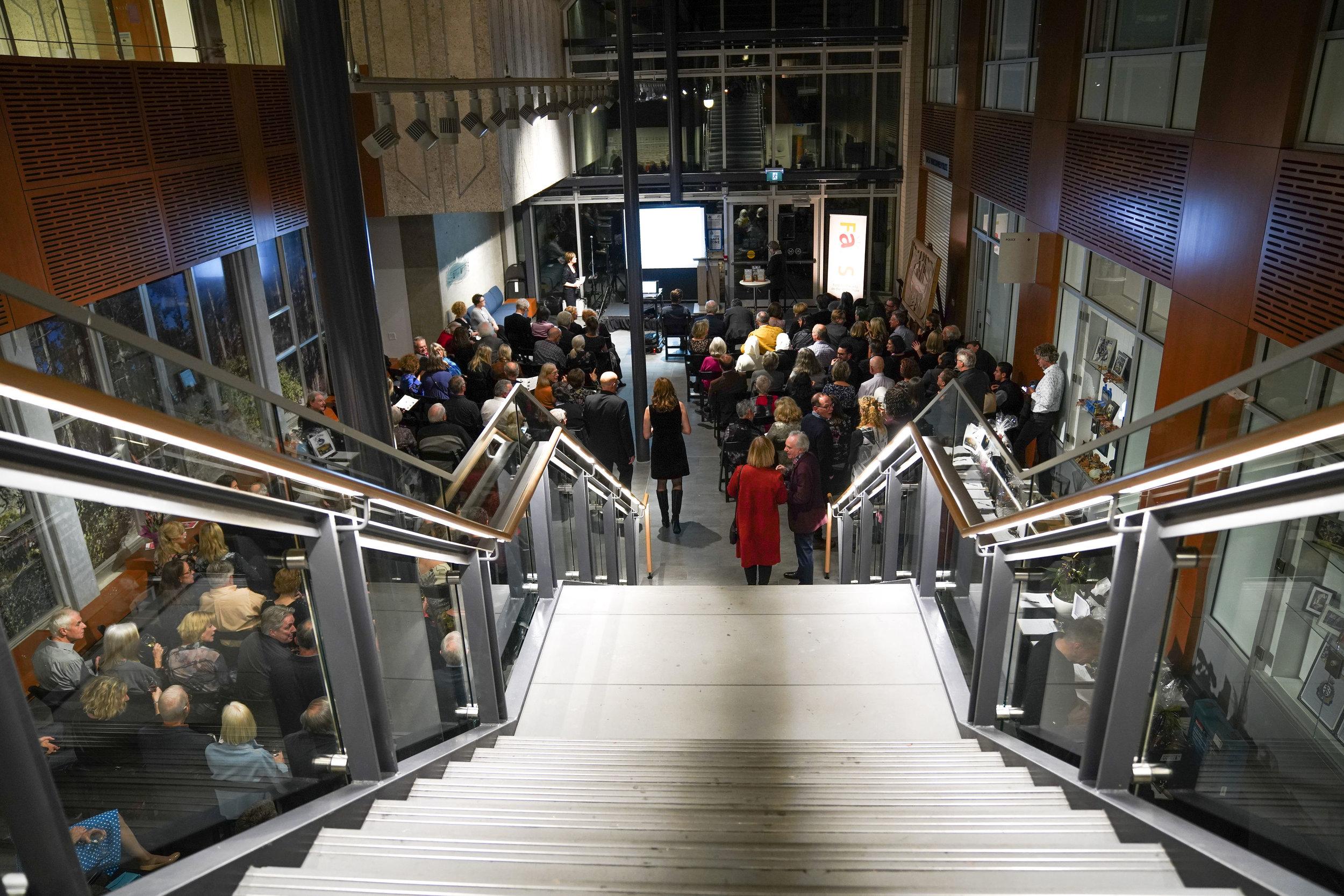 The venue; West Vancouver Municipal Hall