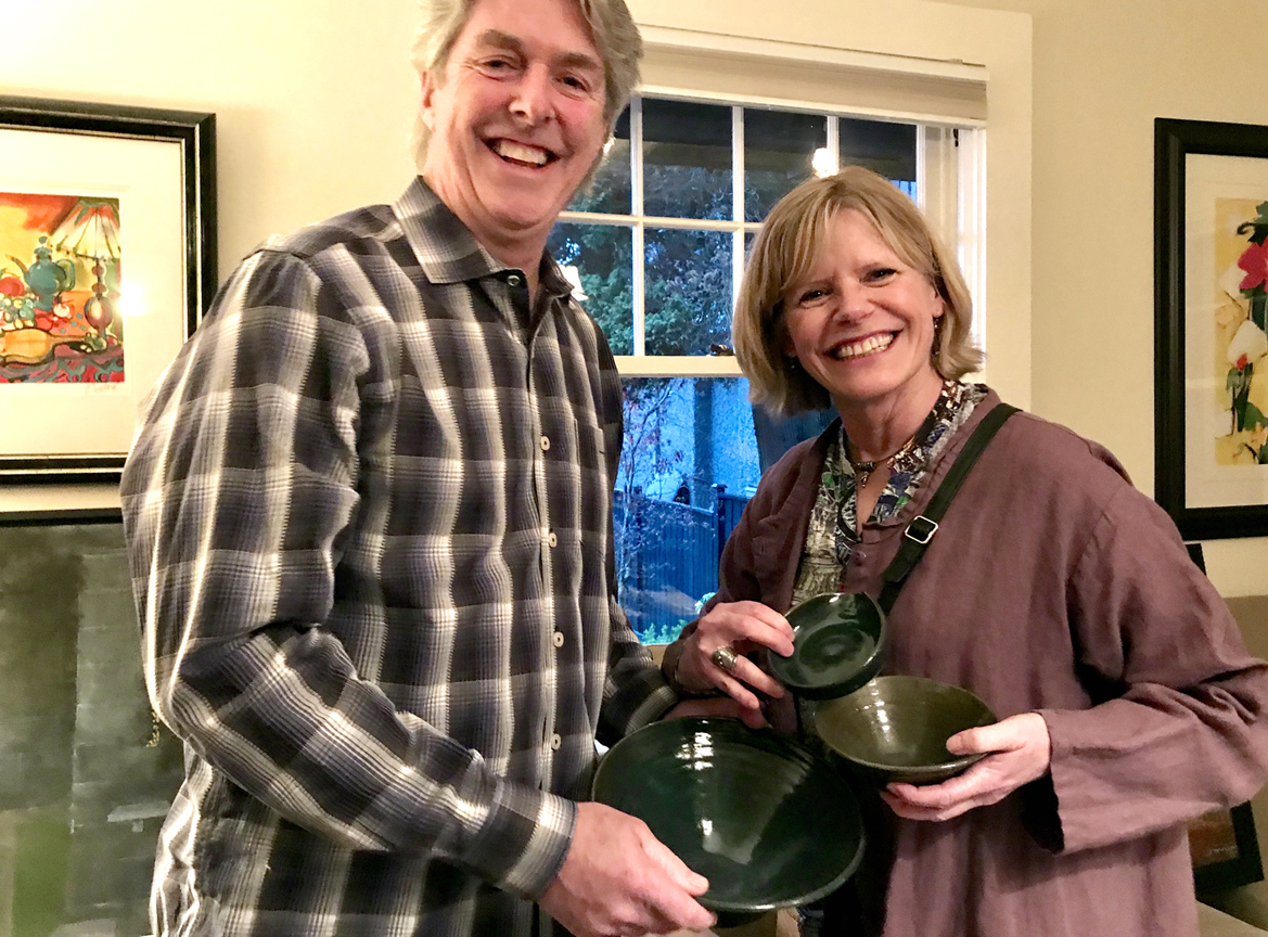 Ceramic Set by Victor J. Harrison goes to appreciative guests