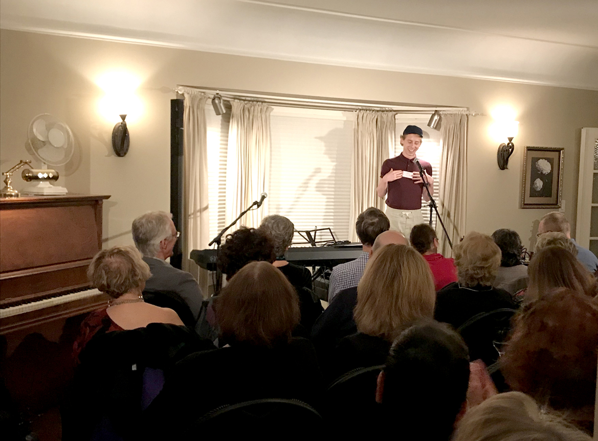 Spoken word poetry performance by Andrew Warner -  2018 FANS Grant recipient