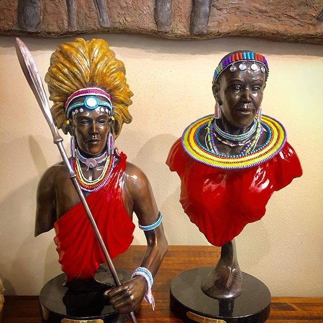 Proud Warrior and Village Beauty #africanart
