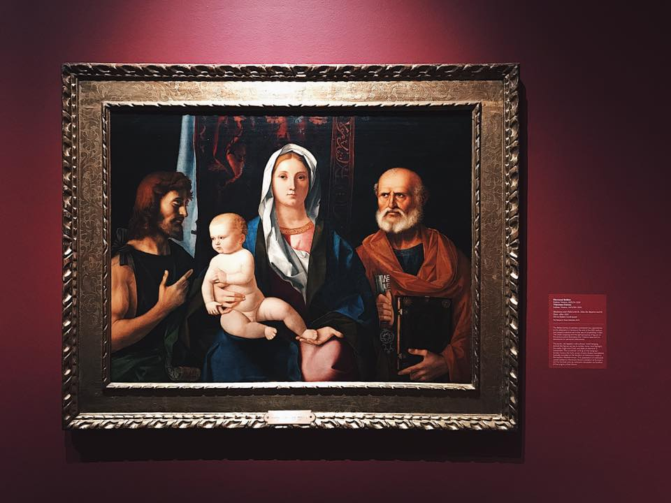 """Madonna and Child with Saint John the Baptist and Saint Peter"" by Giovanni Bellini"