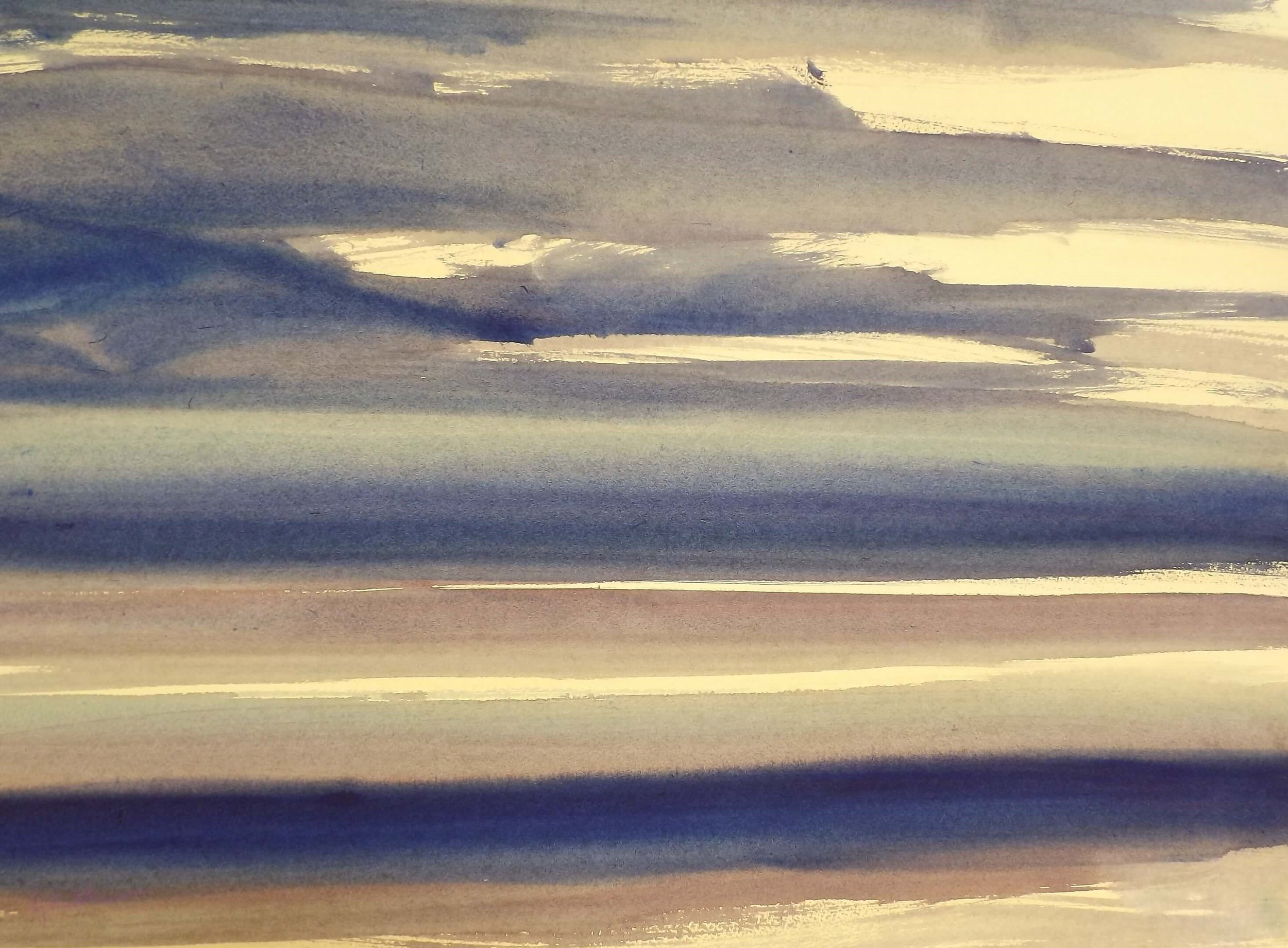 North Shore, Evening  Watercolour   Framed 94x76cms  Sold