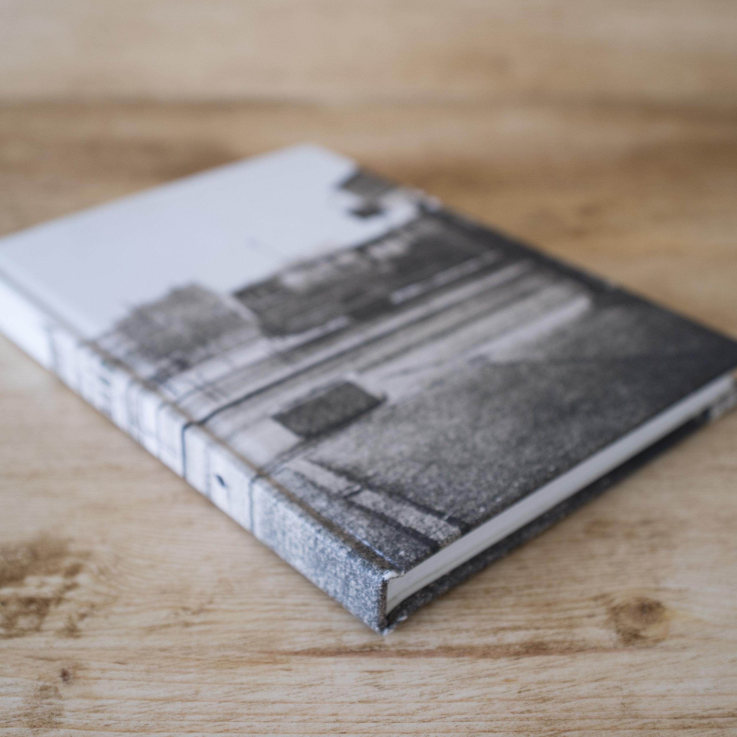 grainy photo on book