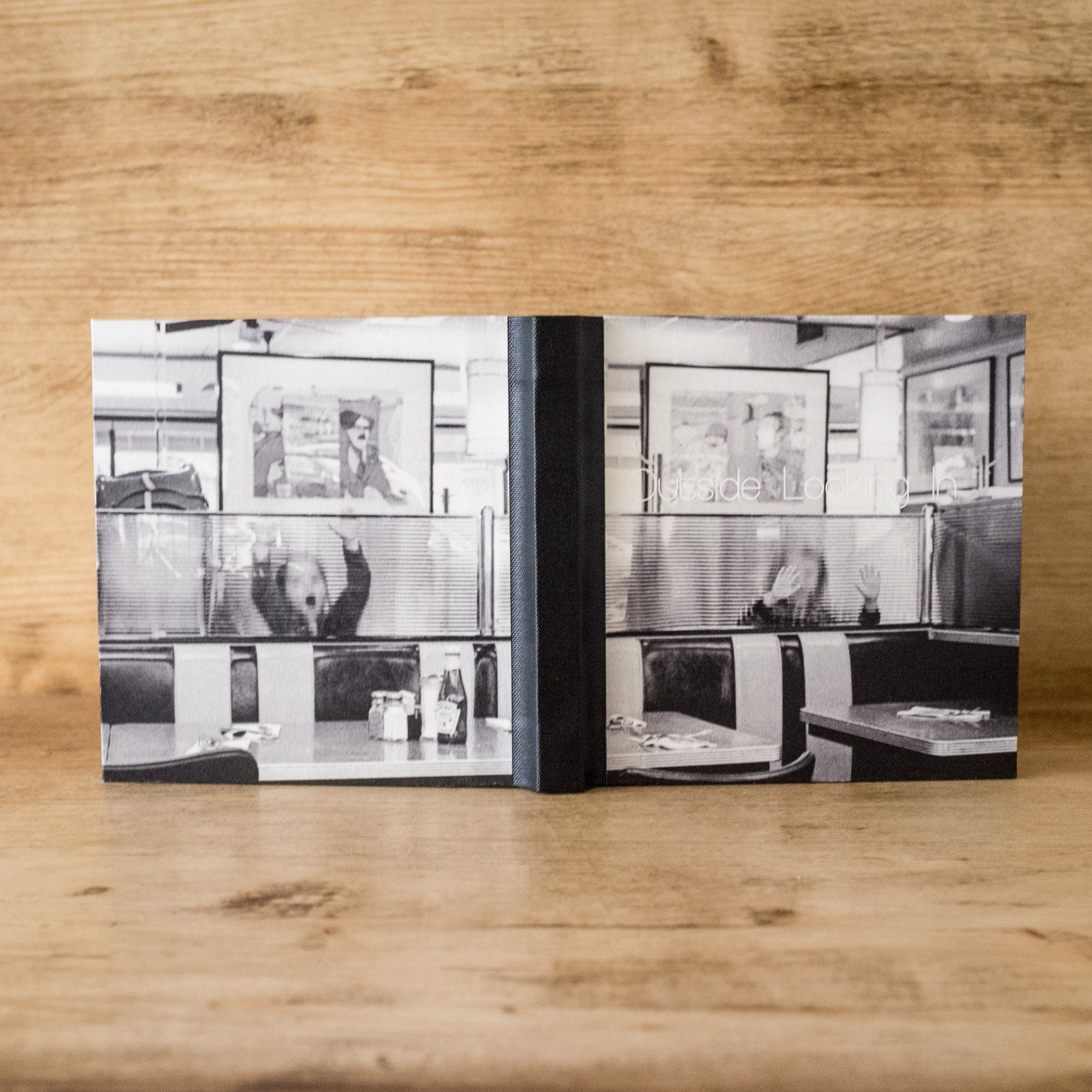 open flat photo book
