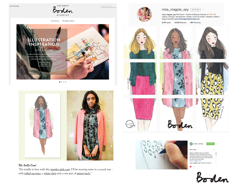 Here are some examples of social media work I did for Boden. The video was especially popular!