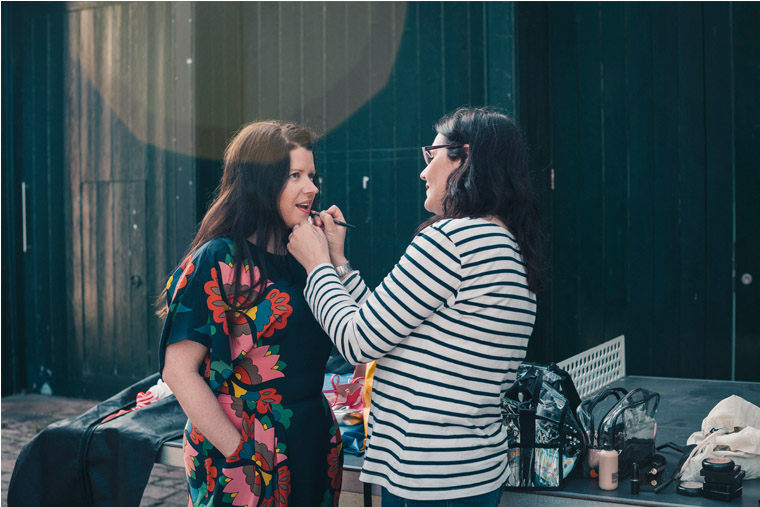 MUA  Portia Channell  changing my lip colour during the shoot